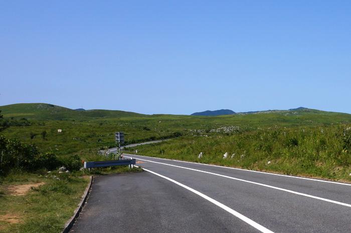 秋吉台道路写真