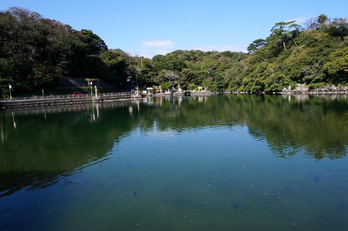 明神池写真