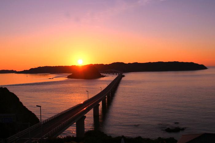 角島に沈む夕日