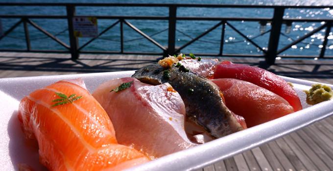 唐戸市場の寿司
