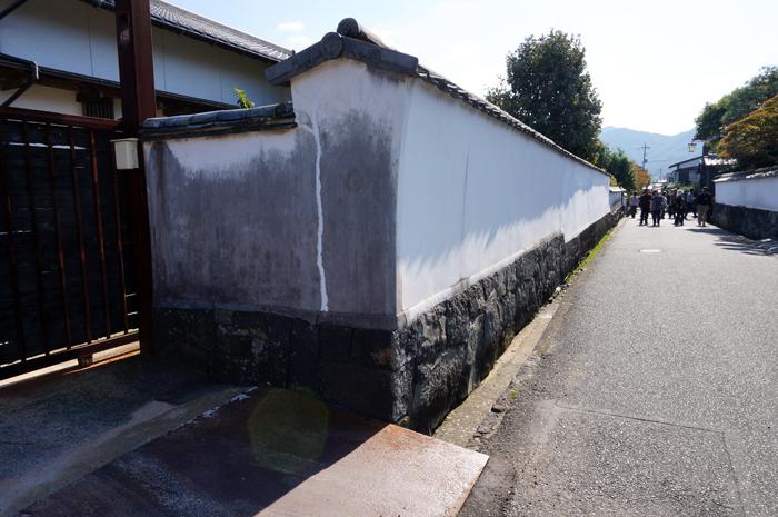萩城下町の白壁